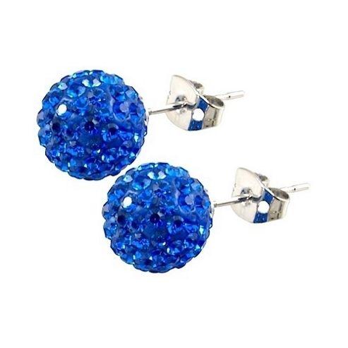 Tresor Paris Rabodanges Titanium Blue Crystal Studs 016077