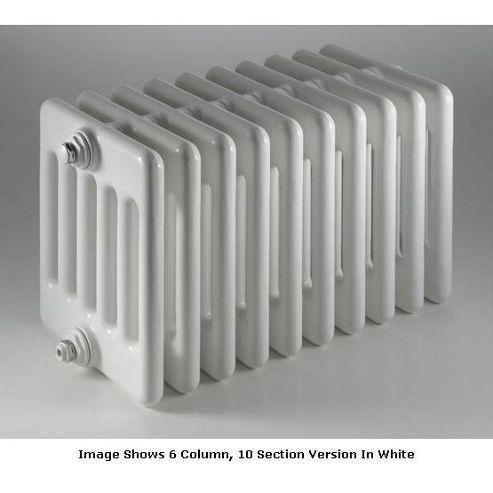 DQ Heating Peta 6 Column Designer Radiator - 292mm High x 1035mm Wide - 23 Sections