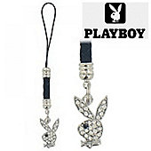 Playboy Clear Bunny Mobile Phone Dangly