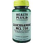 Health Plus Glucosamine HCL 750Vegan 60 Veg Tablets
