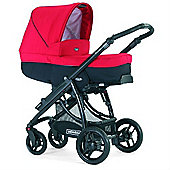 Bebecar Ip-Op I-Basic Matt Black CT Travel System (Red/Black)