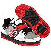 NEW Heelys Flow Boys/Girls Roller Skating Shoe Trainer Choose Colours JNR 12-UK7 - Grey