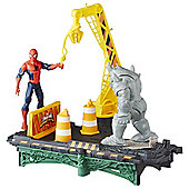 Marvel Spider-Man Web City Rhino Rampage Playset
