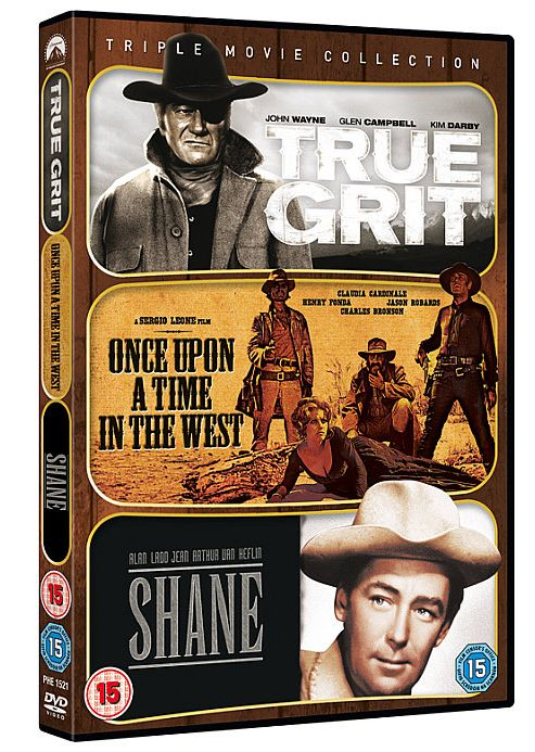 Westerns Triple (True Grit 1969/Shane/Once Upon A Time In The West) (DVD Boxset)