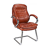 Eliza Tinsley Chrome canti frame luxurious leather visitor chair
