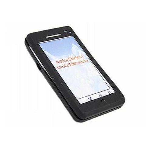 iTALKonline Soft Silicone Case Black - For Motorola A855 Milestone
