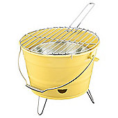 Tesco Small  Charcoal Bucket BBQ - Yellow