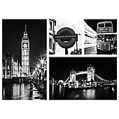 Framed print multi london 50x37