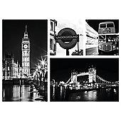 Framed print multi london 50x37