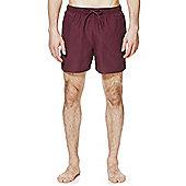F&F Short Length Swim Shorts - Burgundy
