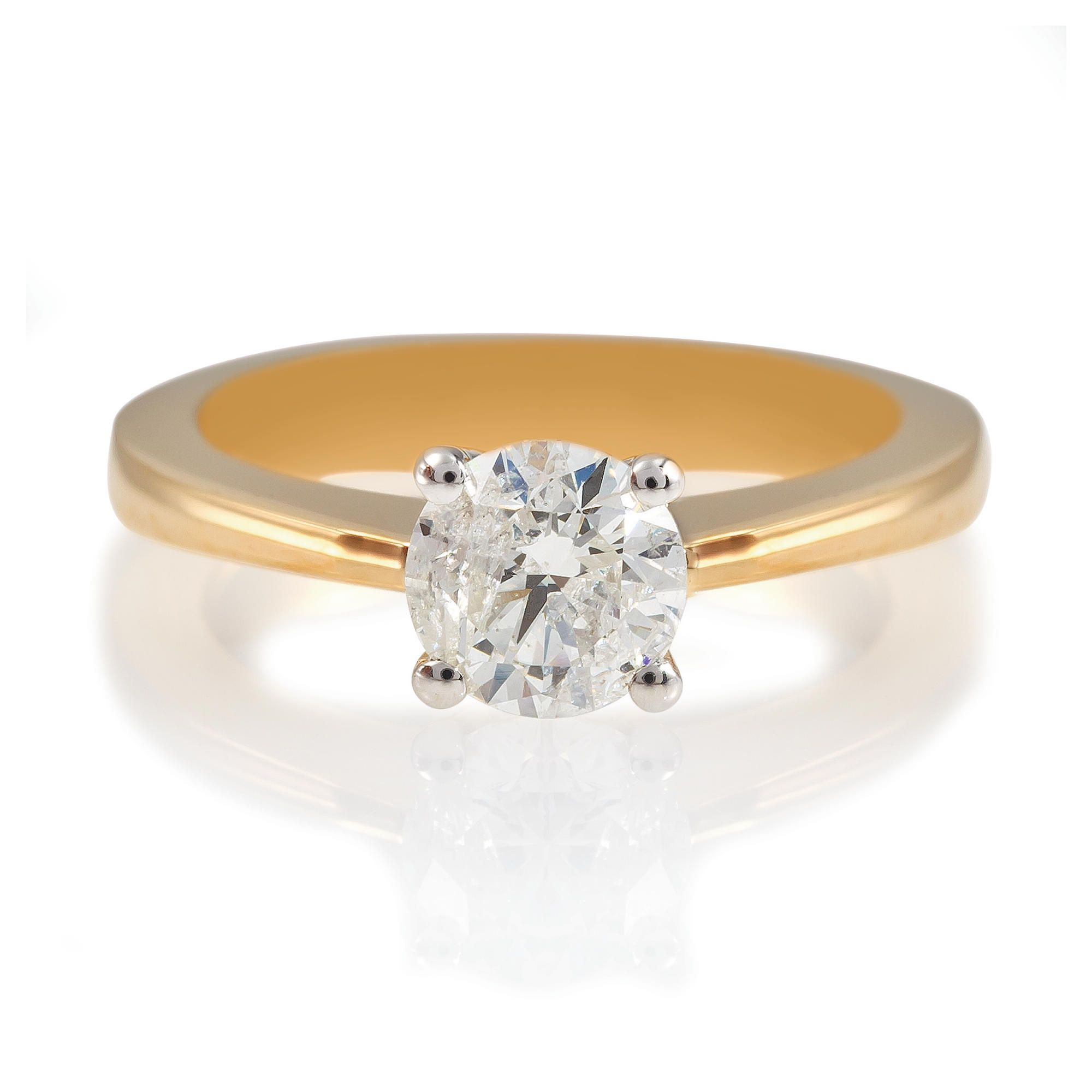18ct Gold 1ct Diamond Solitaire Ring, N at Tesco Direct