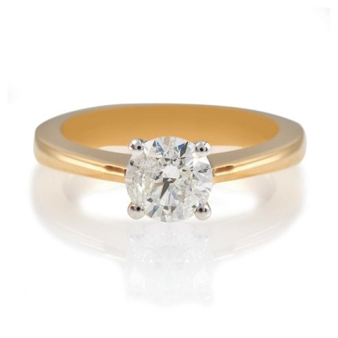 18ct Gold 1ct Diamond Solitaire Ring, N