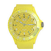 Tresor Paris Watch 018811 - Stainless Steel Bezel - Silicone Strap - Diamond Set Dial - 36mm - Yellow