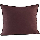 Homescapes Cotton Plain Chocolate Scatter Cushion, 30 x 30 cm