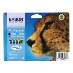 Epson T0715 Multi Colour Printer Ink Cartridge Multipack (Contains T0711, T0712, T0713, T0714 cartridges)