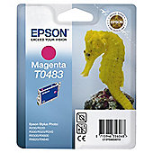 Epson T0483 Magenta Ink Cartridge for Stylus Photo R200/R300/R320/R340/RX500/RX600/RX620 Printers