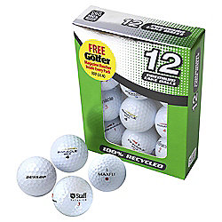 Second Chance High Quality Recycled Golf Balls Value 12 Pack