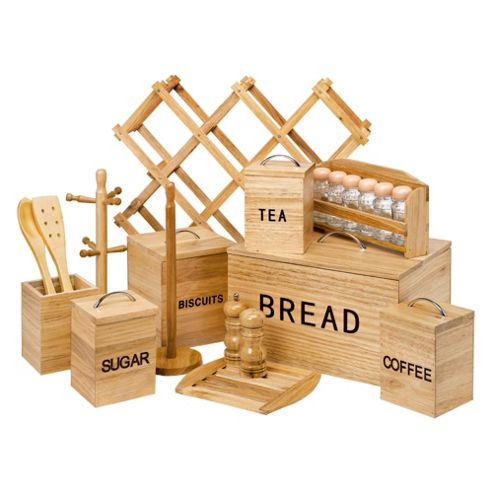 21 piece Wood Storage Set