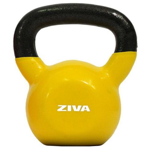 Ziva 8kg Kettlebell - Cast Iron Vinyl Coated Yellow