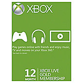 Xbox Live - 12 Month Gold Card