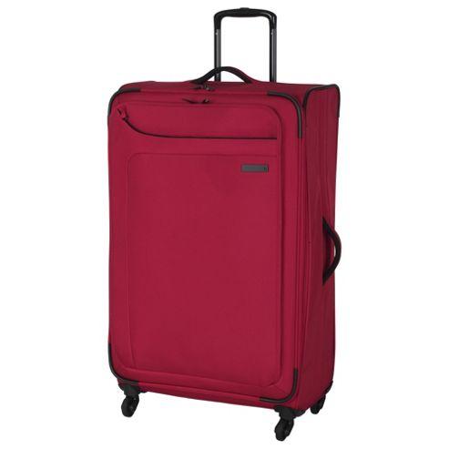 buy it luggage megalite 4 wheel large ribbon red suitcase. Black Bedroom Furniture Sets. Home Design Ideas
