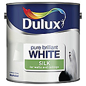 Dulux Silk Emulsion Paint, Pure Brilliant White, 2.5L
