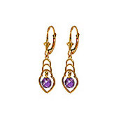 QP Jewellers 1.25ct Amethyst Glitz Leverback Earrings in 14K Rose Gold