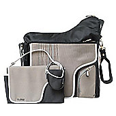 JJ Cole System 180 Changing Bag Black Stitch