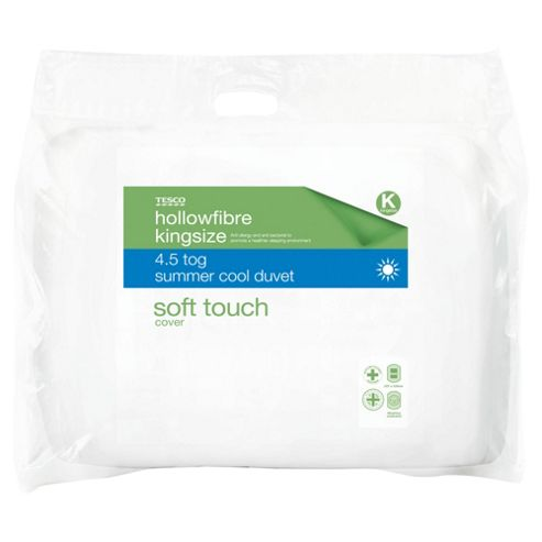 Tesco Soft Touch Anti- Allergy and Anti- Bacterial 4.5 Tog Duvet - Kingsize