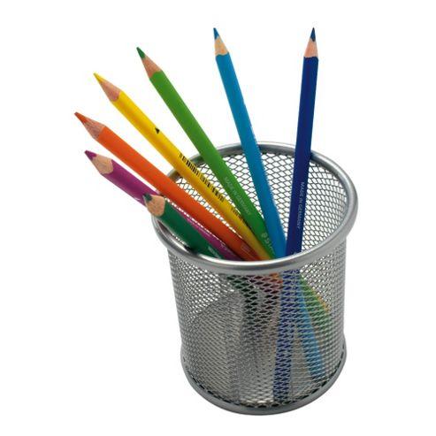 Silver Mesh Pencil Cup