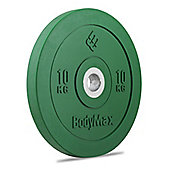 Bodymax Olympic Rubber Bumper Plate - Green 10kg