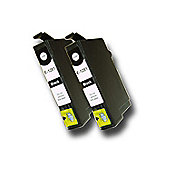 2 Chipped Compatible Epson Fox T1281 Black Ink Cartridges