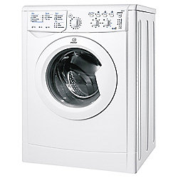 Indesit IWDC6105 Freestanding Washer Dryer, 6Kg Wash Load, B Energy Rating, White
