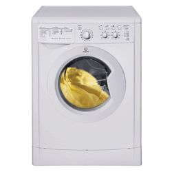 Indesit IWDC6105 Washer Dryer, 6kg Wash Load, 1000 RPM Spin, B Energy Rating. White