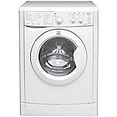 Indesit IWDC6125 Washer Dryer, 6Kg Wash Load, 1200 RPM Spin, A Energy Rating, White