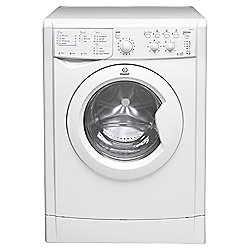Indesit IWDC6125 Freestanding Washer Dryer, 6Kg Wash Load,A Energy Rating, White