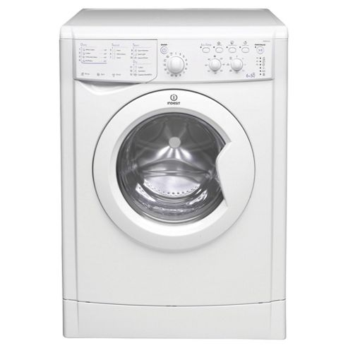 Indesit Ecotime Washer Dryer, IWDC6125, 6 + 5KG Load, White