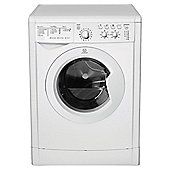 Indesit IWDC6125 Washer Dryer, 6kg Wash Load, 1200 RPM Spin, A Energy Rating. White