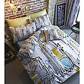 Catherine Lansfield Time Square Single Bed Quilt Set Multi