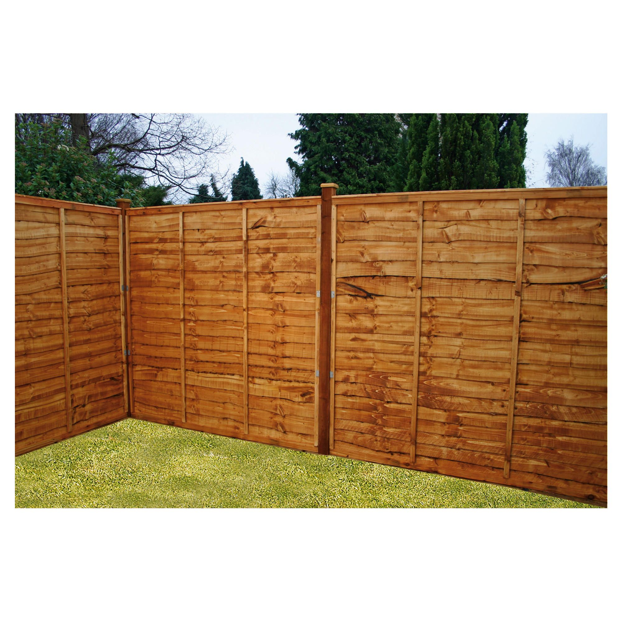 Mercia Waney Edge Horizontal Fencing X7 at Tesco Direct