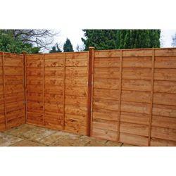 Waney Edge Horizontal Fencing x3