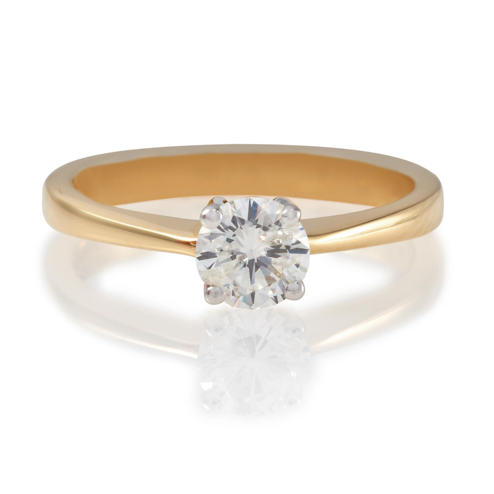 18ct Gold 1/2ct Diamond Solitaire Ring, N at Tesco Direct