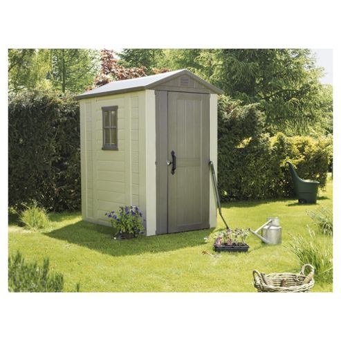 Buy keter apex shed from our plastic sheds range tesco for Garden shed tesco