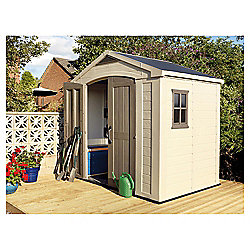 Keter 8 x 6 Plastic Apex Shed