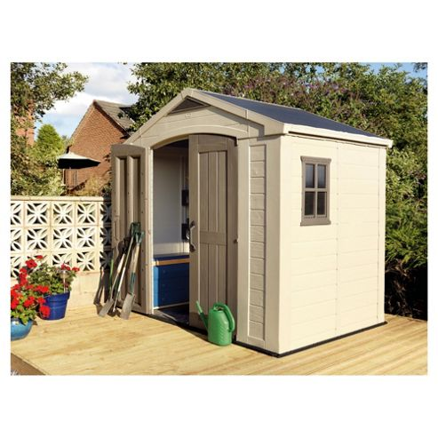 Buy keter apex plastic garden shed 8x6ft from our plastic for Garden shed 8x5