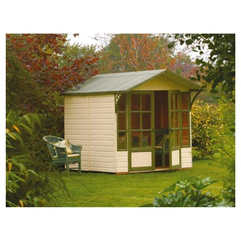 Rowlinson Eaton Shiplap Wooden Summerhouse, 7x7ft