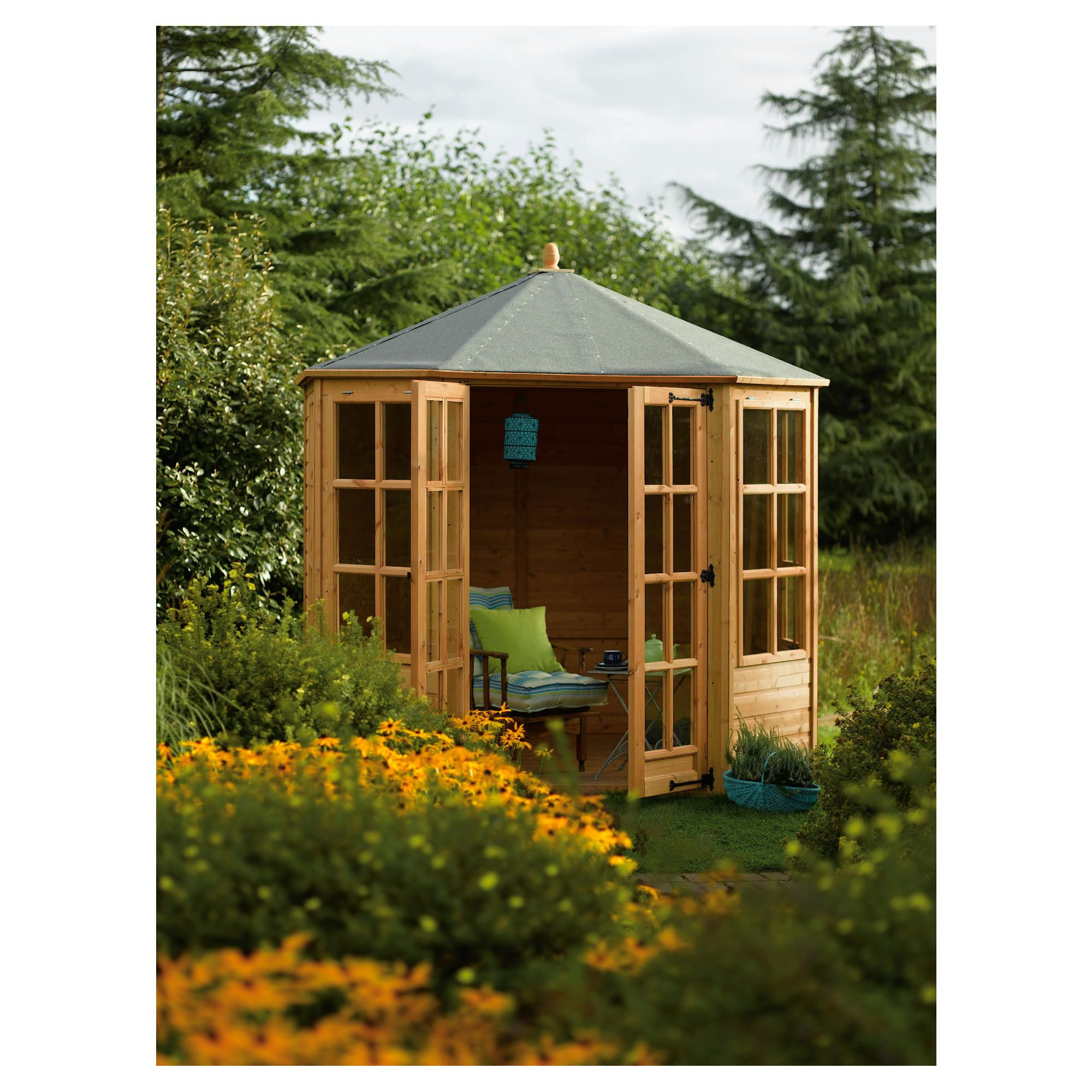 Rowlinson Ryton Octagonal Summerhouse 8x8 at Tesco Direct