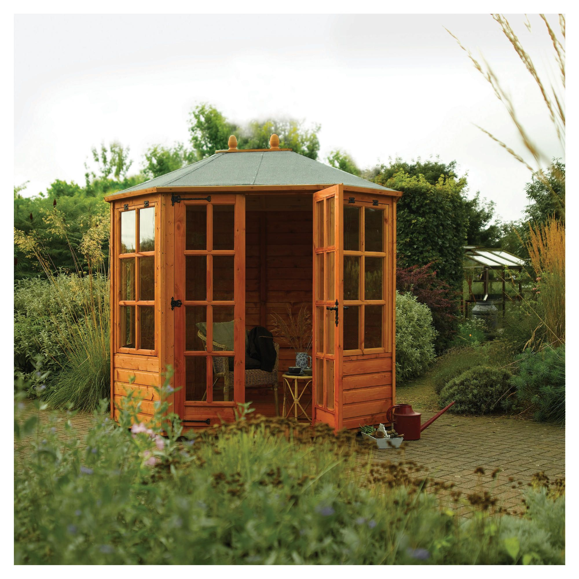 Rowlinson Ryton Octagonal Summerhouse 8x6 at Tesco Direct
