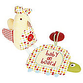 Mamas & Papas baby on board gift set, Windmill