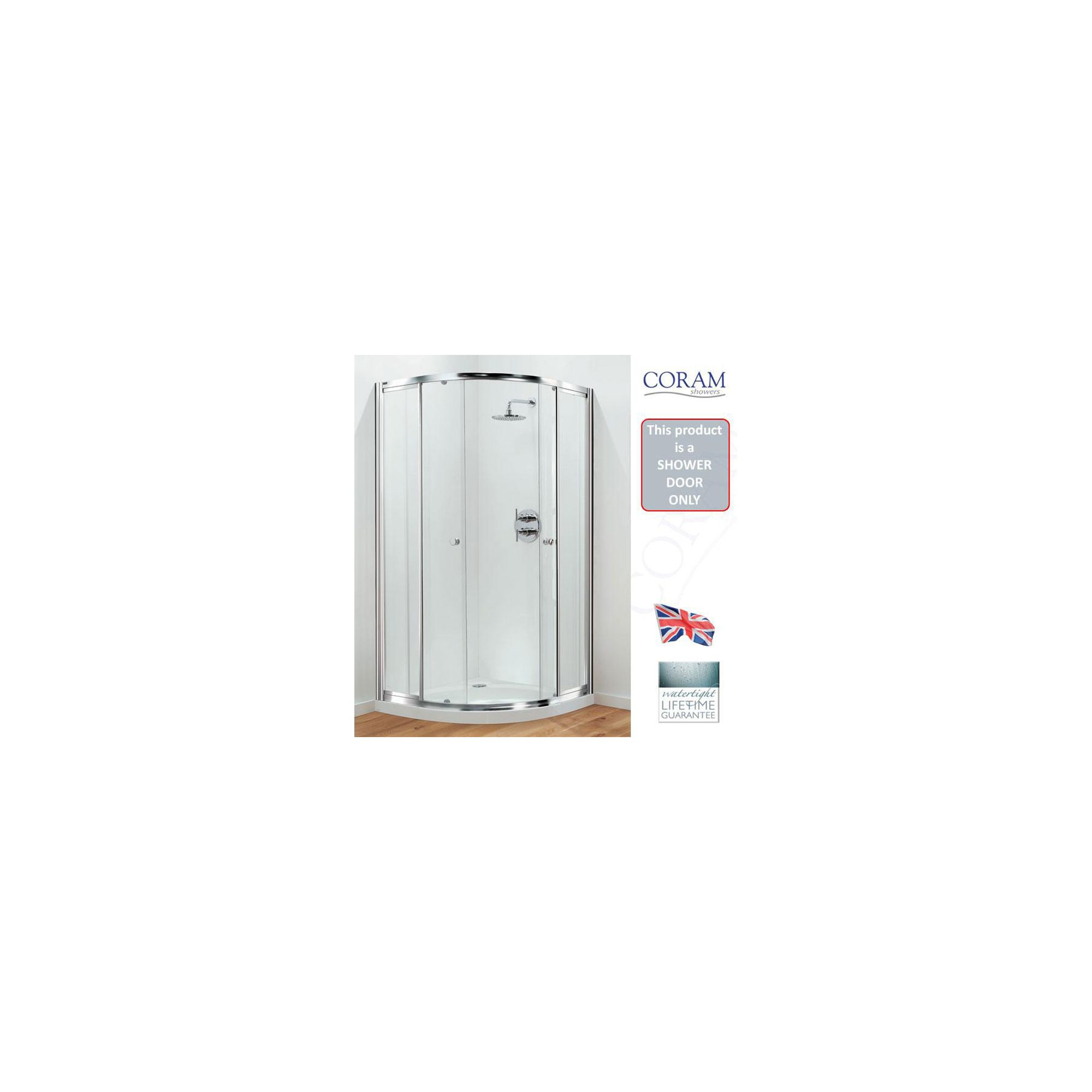Coram Optima Quadrant Frame and Door Pack Only 800mm at Tesco Direct